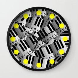 Piano Keys Wall Clock