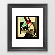 Flamingo Duet 2 Framed Art Print
