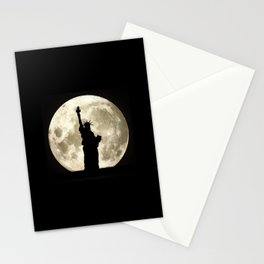 Full Moon Liberty Silhouette  Stationery Cards