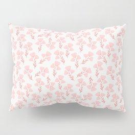 Pink roses print - soft pink palette  Pillow Sham
