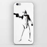 storm trooper iPhone & iPod Skins featuring Storm Trooper by Christine DeLong Creative Studio
