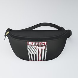 Respect Firefighter Usa Flag American Vintage Fanny Pack