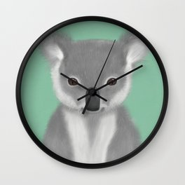 Baby Koala Bear Wall Clock