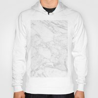white marble Hoodies featuring White Marble by Coconuts & Shrimps