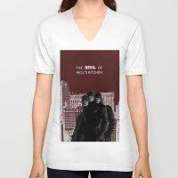 daredevil V-neck T-shirts featuring Daredevil by amyskhaleesi
