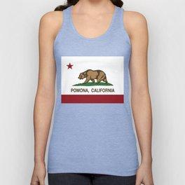 Pomona California Republic Flag  Unisex Tank Top