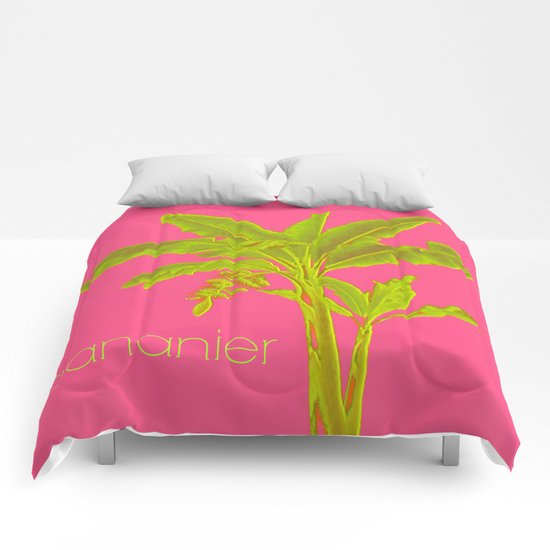 flashy banana tree Comforters
