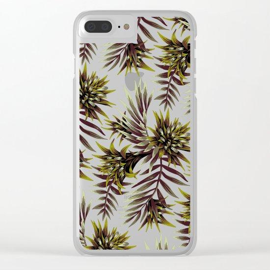 Aechmea Fasciata - Dark Green / Brown Clear iPhone Case
