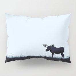 The moose - minimalist landscape Pillow Sham