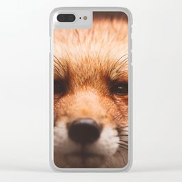 Red fox 2 Clear iPhone Case