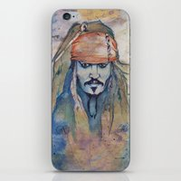 jack sparrow iPhone & iPod Skins featuring Jack Sparrow by Nicola Girello