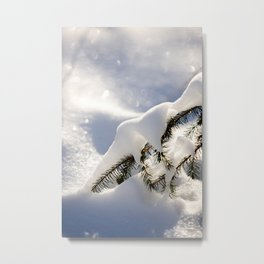 tree covered with  snow |Winter artwork | fine art photo print in the netherlands | nature and travel photograpy Metal Print