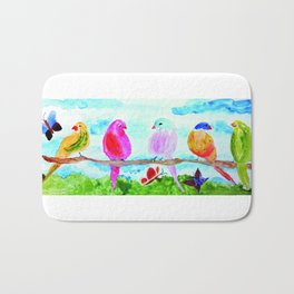 Birds and Butterflies Bath Mat