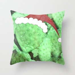 Holiday Prickly Pear Throw Pillow
