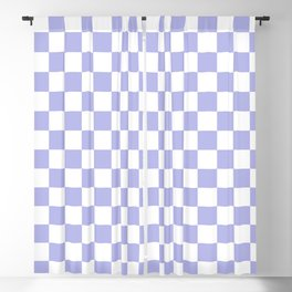 Gingham Soft Lavender Blush Checked Pattern Blackout Curtain