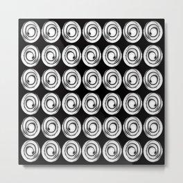 Circle design in black and white Number  9 Metal Print