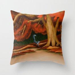 Blue Fox at The Dark Pool of Malkkaard Throw Pillow