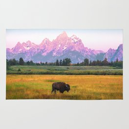 Grand Tetons Bison Rug
