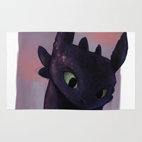 toothless Area & Throw Rugs featuring Toothless by tsunami-sand