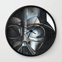 darth Wall Clocks featuring Darth by Michael Hewitt