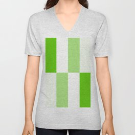 Green and white Block gradient Unisex V-Neck