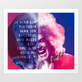 Rock Me Amadeus Art Print