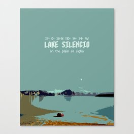 Doctor Who Minimalist Travel Poster - Lake Silencio Canvas Print