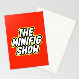 THE MINIFIG SHOW in Brick Font Logo Design by Chillee Wilson Stationery Cards