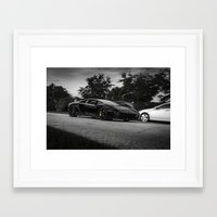 lamborghini Framed Art Prints featuring Lamborghini aventador by Aaron Joslin Photography