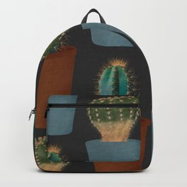 Dual cactus repeating pattern  Backpack