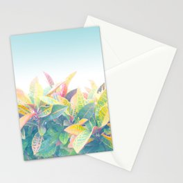 After the rain / Tropical Croton Leaves 4 Stationery Cards