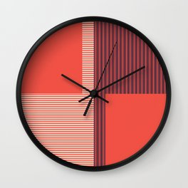 Figaro in Red Wall Clock