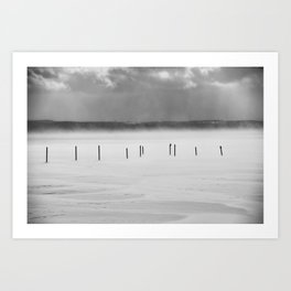 Lake Posts in February Canandaigua Lake Art Print