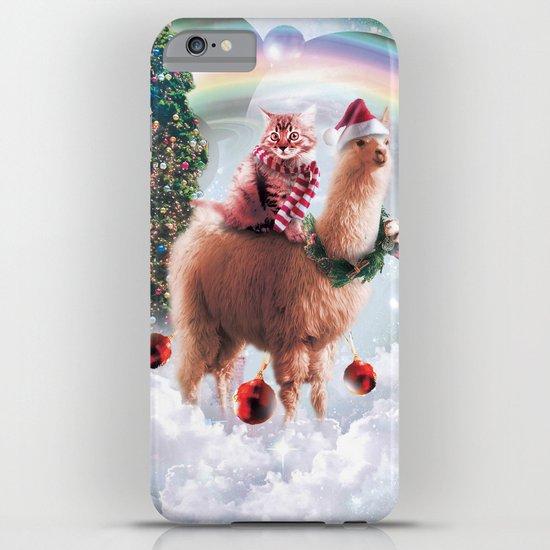Christmas Rainbow Llama - Cat Llama by randomgalaxy
