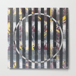 Polarized - circle graphic Metal Print
