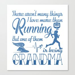 Running Grandma Canvas Print