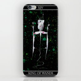 A Tarot of Ink 14 King of Wands iPhone Skin
