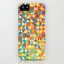 Triangles & Colors iPhone Case