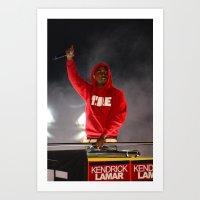 kendrick lamar Art Prints featuring Kendrick Lamar  by Porterhouse LA