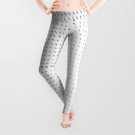 Black and White Minimal Line Pattern II Leggings