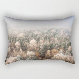 Vanish in the Snow Rectangular Pillow