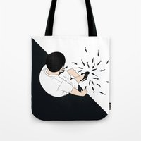 fireworks Tote Bags featuring FIREWORKS by RUEI