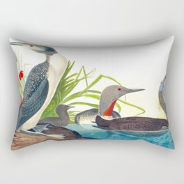 Red-Throated Diver Duck Rectangular Pillow