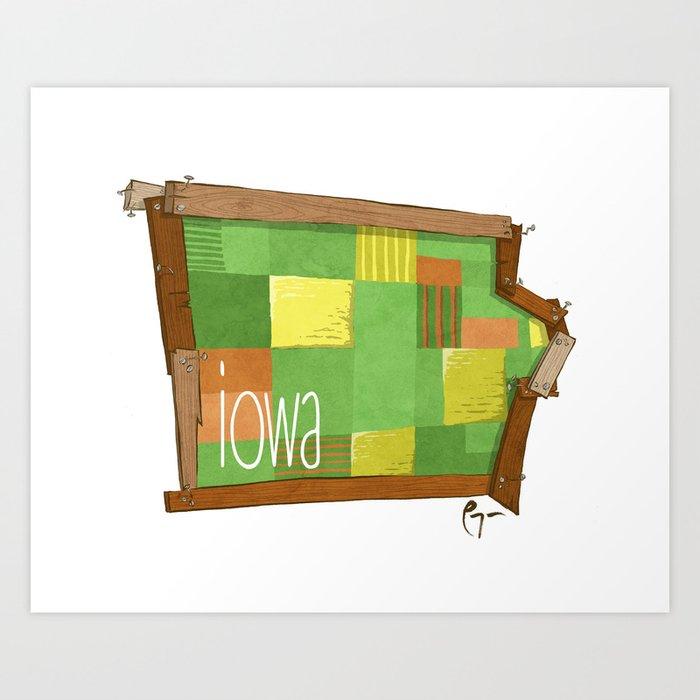 Iowa - the 29th State Art Print