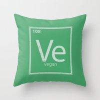 vegan Throw Pillows featuring VeGan by Eddie Loven