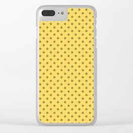black triangle ornate on a yellow background Clear iPhone Case