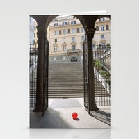 ballon Stationery Cards featuring Red Ballon by Danielle W