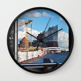 Port of Hamburg Wall Clock