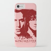 winchester iPhone & iPod Cases featuring Team Winchester by Panda Cool