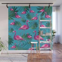 Summer Flamingo Palm Vibes #2 #tropical #decor #art #society6 Wall Mural